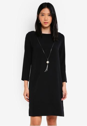 ZALORA black Necklace Detail Dress E234DAAAC9918AGS_1
