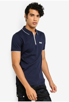 039aec11 Superdry navy City Sport Zip Polo Shirt 75CDEAA977D764GS_1