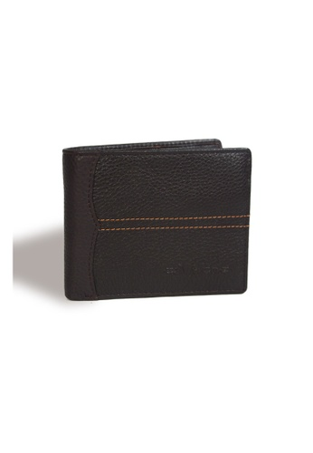 EXTREME brown Extreme Genuine Leather Short Wallet Bifold Multi Slot Dark Brown DE54BAC8CB8151GS_1