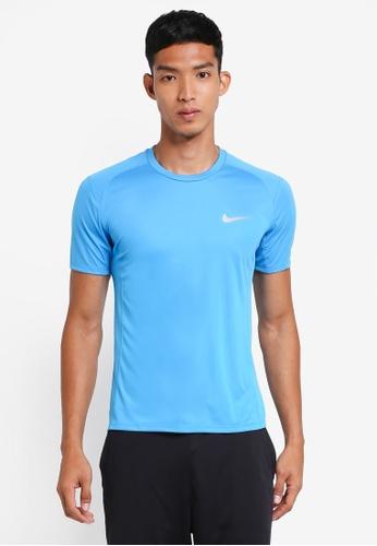 Nike blue Men's Nike Miler Short Sleeve Running Top B7E4DAA82C5939GS_1