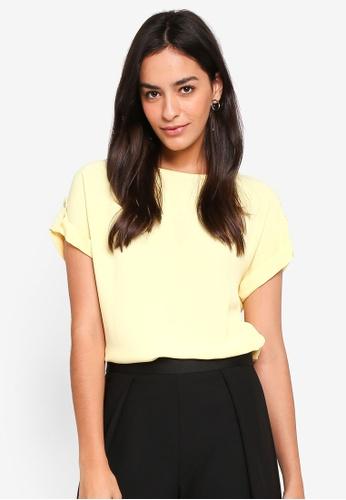 Dorothy Perkins yellow Lemon Button Tee 81787AA0E4492BGS_1