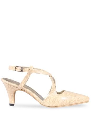 CLAYMORE beige Claymore Mid Low Heels  MZ - 1712 cream CL635SH52STJID_1