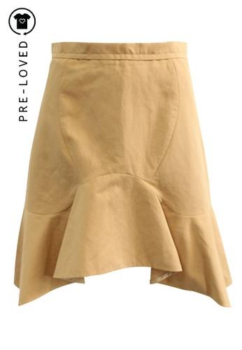 Carven beige Pre-Loved carven Mermaid Skirt 545B6AA84E83C9GS_1