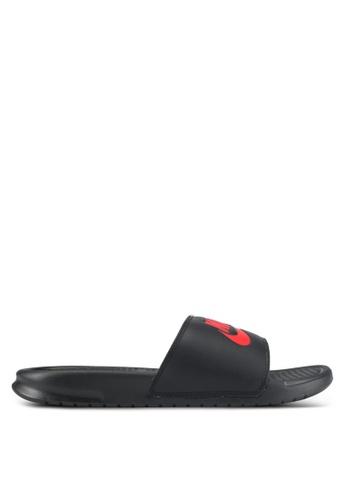 "Nike black Men's Nike Benassi ""Just Do It."" Sandals NI126SH0STQOMY_1"