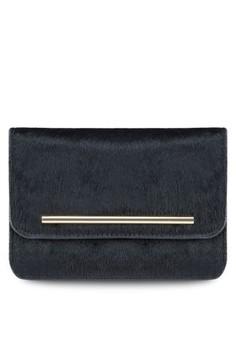 Leather Fur Clutch