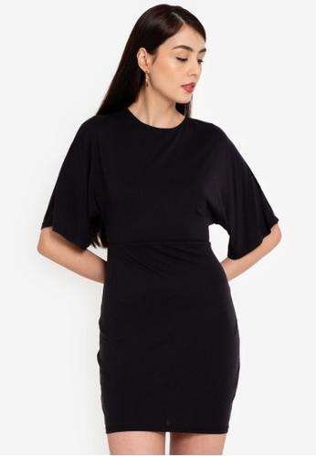 Origin by Zalora black Kimono Sleeve Dress made from TENCEL™ 65AB7AAFC42A64GS_1