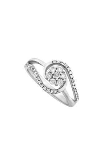 TOMEI white TOMEI Spellbound with Glamorous Verve Ring, Diamond White Gold 375 (R2490) D8B63ACDB9191AGS_1