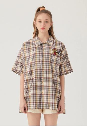 Twenty Eight Shoes Loose Embroidered Plaid Shirt HH0334 4D0AEAA4F0E65CGS_1