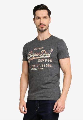 Superdry grey Vl Tee Shirt Store Infill Tee F80BCAACC2EC2AGS_1