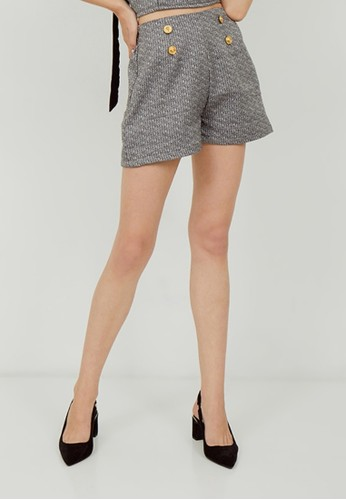 Boss Babe the Label black Lux Coco Tweed Highwaisted Shorts C324AAA77AA7A4GS_1