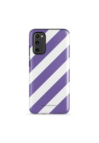 Polar Polar purple Purple Slash Dual-Layer Tough Case Glossy For Samsung S20 5F903AC3F4CAB8GS_1