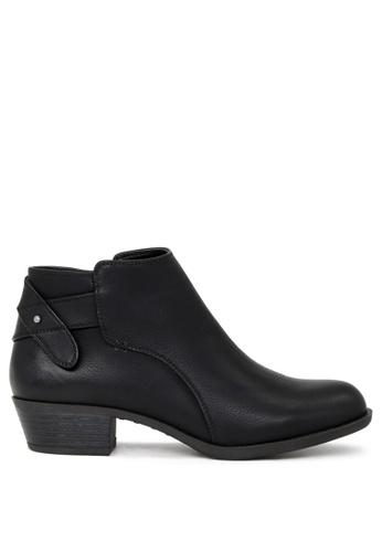 London Rag black Audrey Black Zipper Ankle Boots SH1684 451B3SH8D5EA33GS_1
