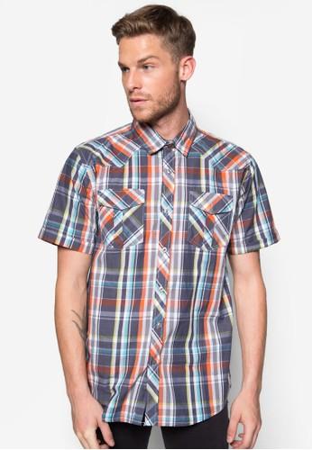 格紋esprit童裝門市短袖襯衫, 服飾, 襯衫