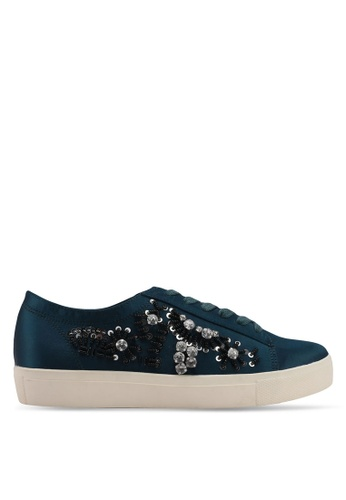 Velvet green Embellished Sneakers 16EC0SH4AD74F8GS_1