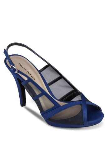 Neataesprit china 露趾網眼繞踝高跟鞋, 女鞋, 高跟