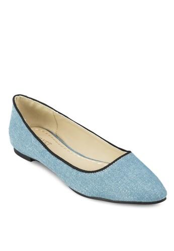 撞色滾邊丹zalora時尚購物網評價寧平底鞋, 女鞋, 芭蕾平底鞋