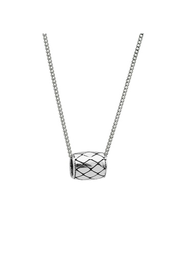LYCKA silver LDR1238 S925 Silver Vintage Rhombus Necklace ED7A2ACBB66872GS_1
