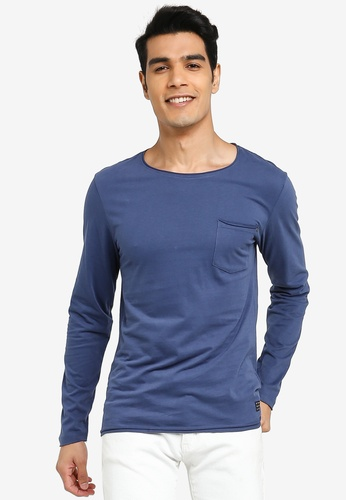 BLEND blue Pocket Long Sleeve T-Shirt BA848AA0551026GS_1