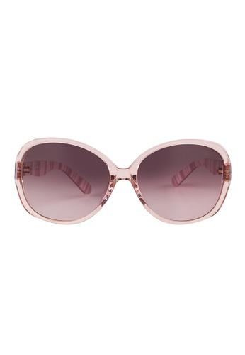 Kate Spade brown Kate Spade Delphine Pink Sunglasses QGXJ6 KA433AC02JUVMY_1