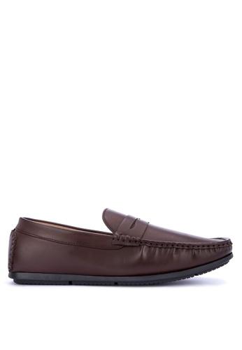 Mendrez brown Baron Loafers & Moccasins 49B78SH8EF056BGS_1