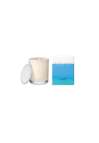 Ecoya Ecoya Blue Cypress & Amber Mini Madison Candle 41FE3HL4C4B80AGS_1