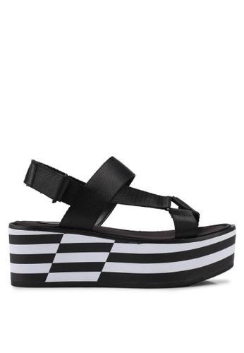 ALDO black Eraolian Wedge Sandals CAB7ASH8CA6E7BGS_1