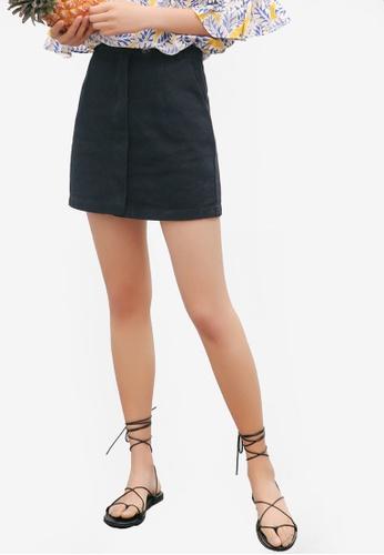 Shopsfashion black Light Denim Mini Skirt 2D499AA77BCBD3GS_1