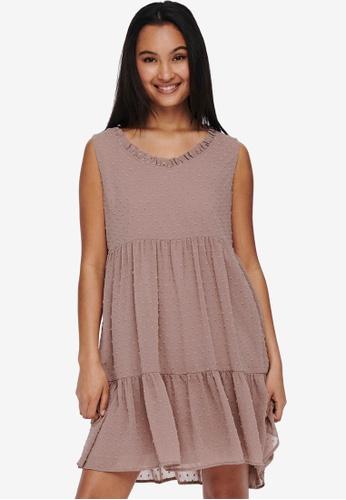 JACQUELINE DE YONG pink Nikoline Sleeveless Frill Dress A08AAAAA39A2C0GS_1