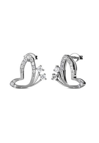 Her Jewellery silver Swarovski® Crystals - Butterfly Wings Earrings (18K White Gold Plated) Her Jewellery HE581AC83JZKMY_1