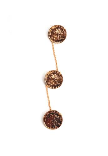 Paulini gold Kerongsang Kebaya Coin (G) PA011AC28LXVMY_1