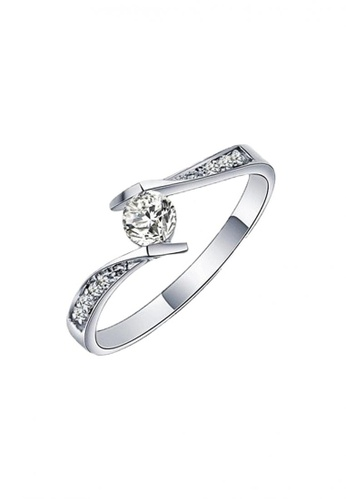 Elfi silver Elfi 925 Genuine Silver Engagement Ring T1 - The Final Love EL186AC57DFQMY_1