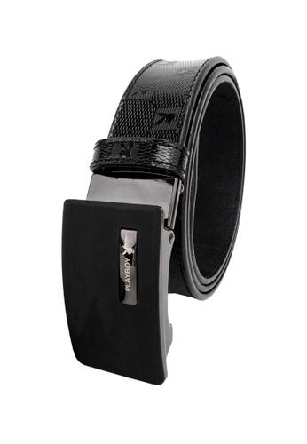 Playboy black 35mm Holeless Clip Belt C0101AC2032104GS_1