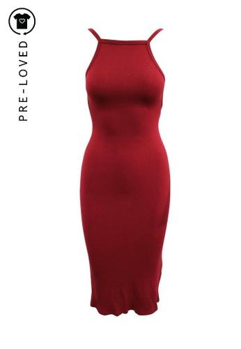 Reformation red Pre-Loved reformation Slim Fit Burgundy Dress 38976AA4F0D4EBGS_1