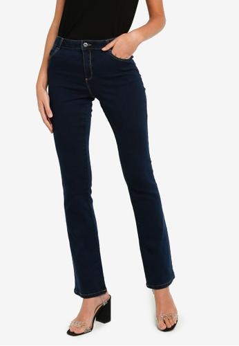Dorothy Perkins blue Regular Indigo Ellis Bootcut Jeans B6D4BAABBBB13FGS_1