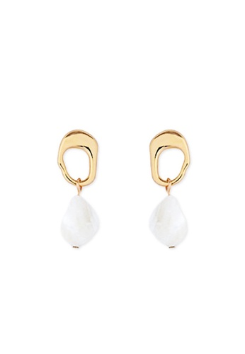 A-Excellence gold Shell Pearl Earring 2A702AC761605BGS_1