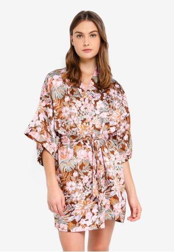 Cotton On Body brown Kimono Gown B5B5EAAEBC489BGS_1
