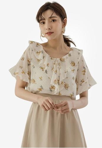 2715292f60118 Buy Tokichoi Floral Ruffle Blouse Online on ZALORA Singapore