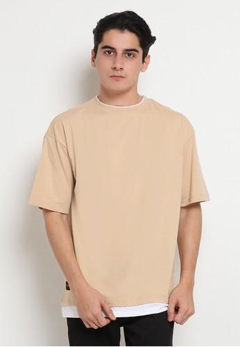 TIRAJEANS brown T-SHIRT S/S 567F8AA71DBB72GS_1