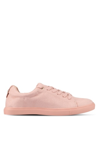 TOPSHOP pink Coffee Lace Up Trainers BA2E7SH5C60983GS_1