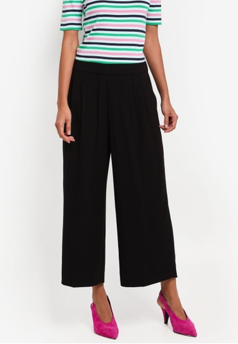 J.Crew black Wide Leg Cropped Easy Pants DBF2EAADCB913FGS_1