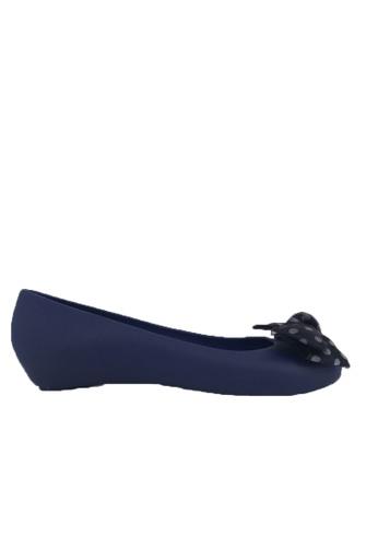 Halo blue Bow Waterproof Jelly Flats Shoes 5206ESH5FE0DB6GS_1