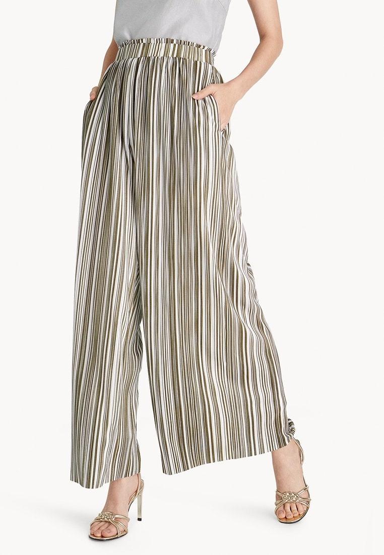 Striped Olive Wide Pomelo Pants Leg Pleat Olive 6dxRwqPTR