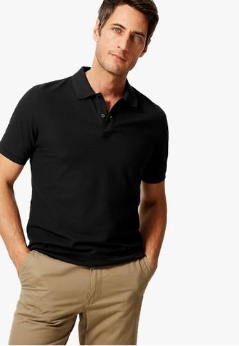 MARKS & SPENCER black Pure Cotton Polo Shirt 13893AA041A9ADGS_1