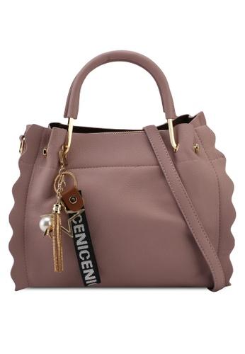 Unisa pink Frill Edge Convertible Top Handle Bag 14586AC8B979E6GS_1