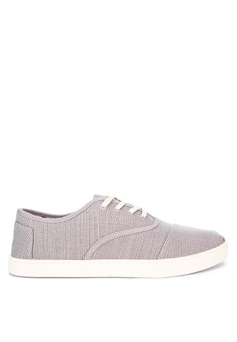 TOMS grey Cordones Cupsole Sneakers 7ED0ASHDD425F3GS_1