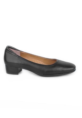 Twenty Eight Shoes 黑色 羊皮工作鞋 2EDD0SHC44F376GS_1