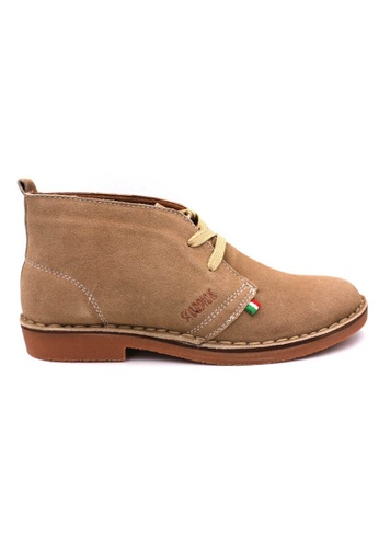 midzone brown SCORPION Suede Leather High Cut C22BESH237D898GS_1