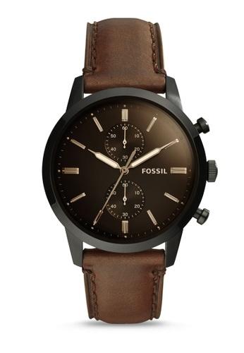 Fossil brown Fossil 44Mm Townsman Brown Watch FS5437 88A91ACA4A5116GS_1