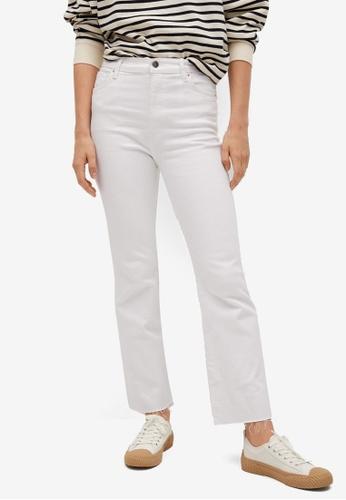 Mango white Crop Flared Jeans DA239AAD819172GS_1