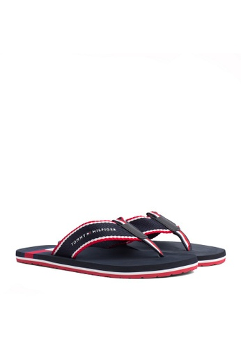 Tommy Hilfiger black CORPORATE FLAG BEACH SANDAL 814BESH77F7FEBGS_1